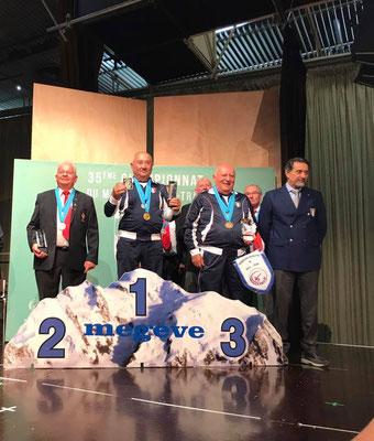 «Daniel Chayoux vice champion du monde super vétérans à Megève» – Georges de Araujo quatrième en vétérans et Murielle Ecollasse sixième en dames