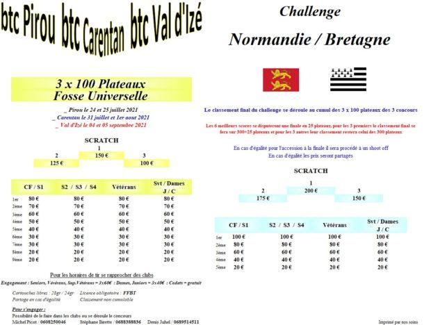 Organisation du Challenge Normandie / Bretagne